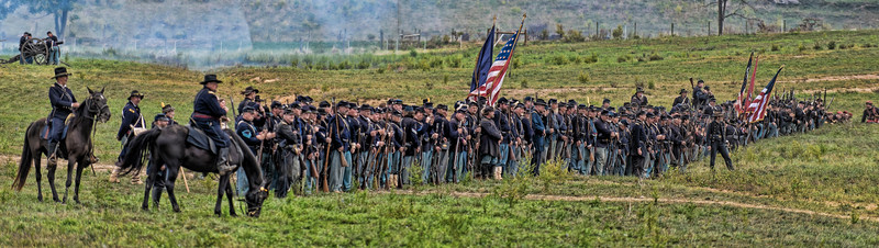 Union battlefield panoramic