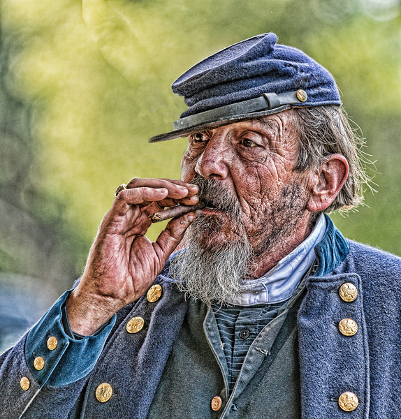 Union General smoking a cigar