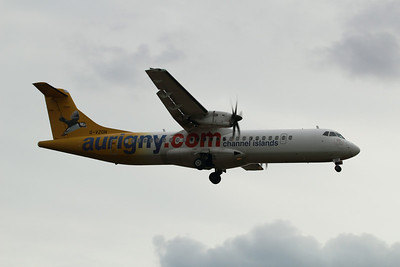 G-VZON Aurigny Air Services ATR 72-500 (72-212A) c/n 853 @ East Midlands Airport / EGNX 31.07.14