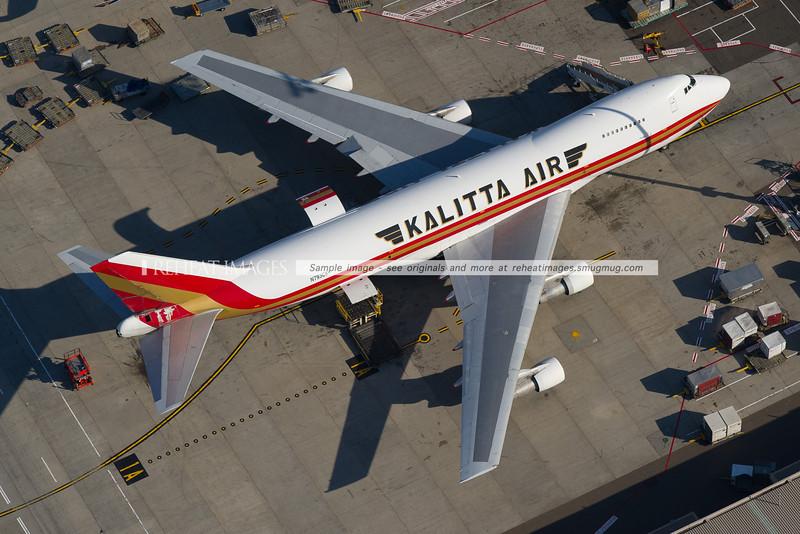 Kalitta Air Boeing 747-200F aerial shot