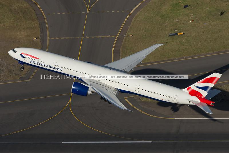 British Airways B777-300/ER G-STBF takeoff