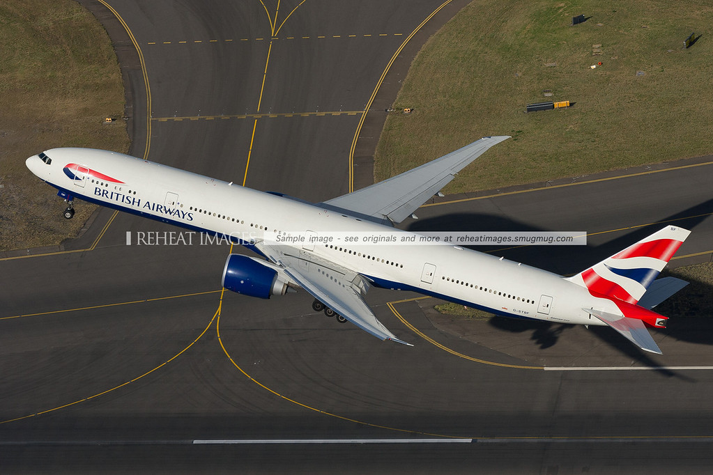 British Airways B777-300/ER G-STBF takeoff