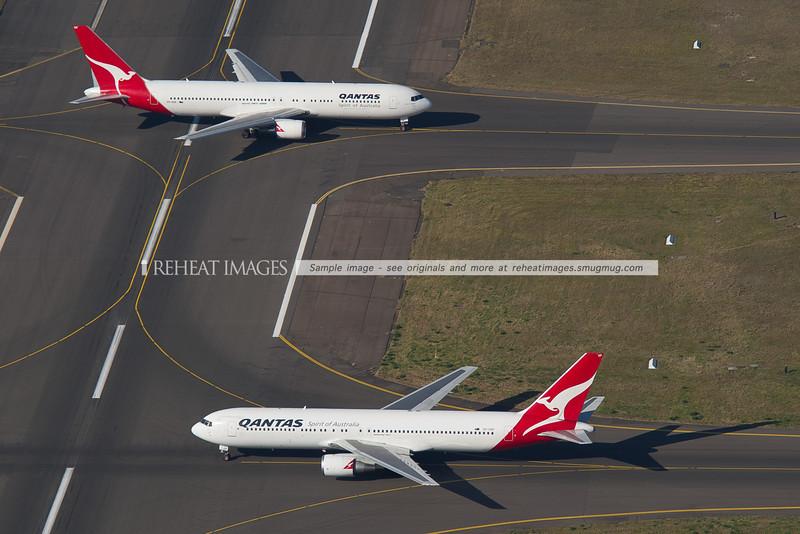 Qantas Boeing 767-300s at Sydney