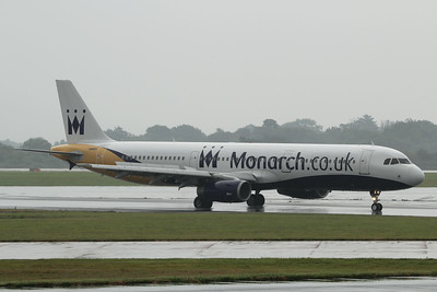 G-OZBU Monarch Airlines Airbus A321-231 c/n 3575 @ Manchester Airport / EGCC 01.08.14