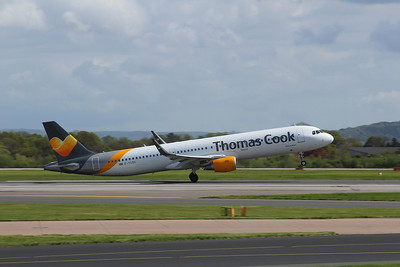 G-TCDC Thomas Cook Airlines Airbus A321-211(WL) c/n 5872 @ Manchester Airport / EGCC 26.04.14