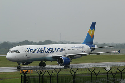 G-OMYJ Thomas Cook Airlines Airbus A321-211 c/n 677 @ Manchester Airport / EGCC 01.08.14