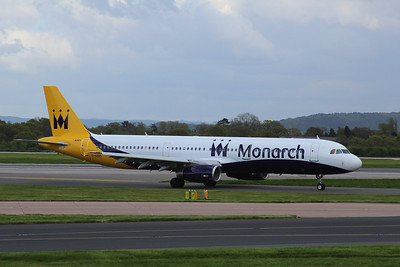 G-OZBO Monarch Airlines Airbus A321-231 c/n 1207 @ Manchester Airport / EGCC 26.04.14