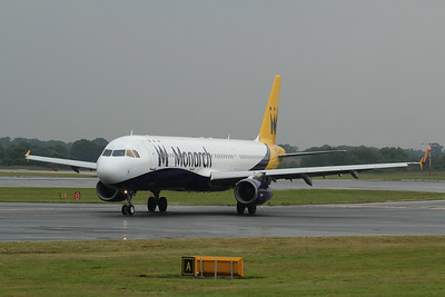 G-OJEG Monarch Airlines Airbus A321-231 cn 1015 @ Manchester Airport / EGCC 01.08.14