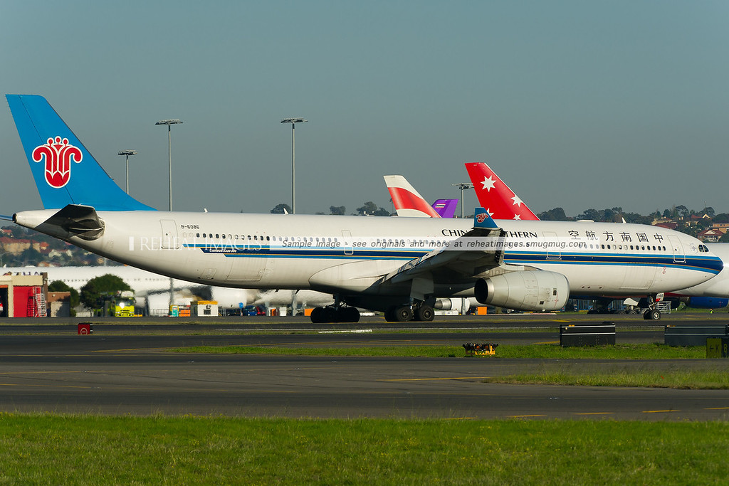 China Southern Airbus A330-300 at Sydney airport.