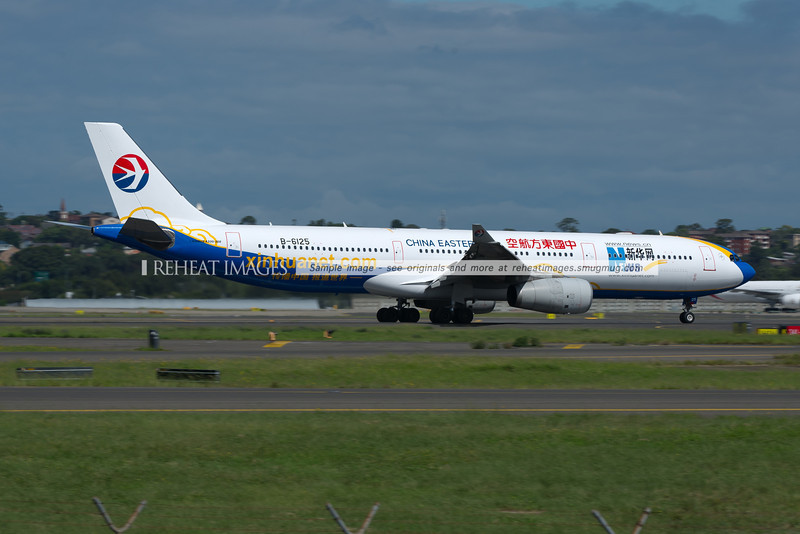 China Eastern A330 B-6125 wears the Xinhuanet colour scheme.