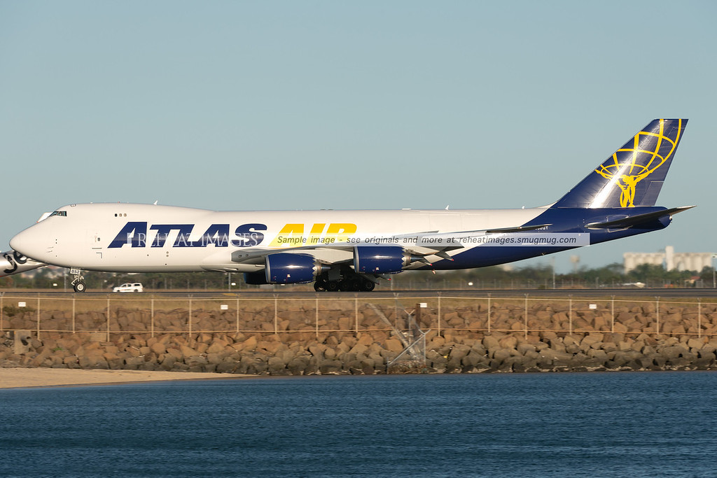 Atlas Air Boeing 747-8F N852GT arrives in Sydney for the first time.