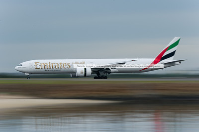 Emirates B777-300/ER A6-EGA makes its first visit to Sydney airport.