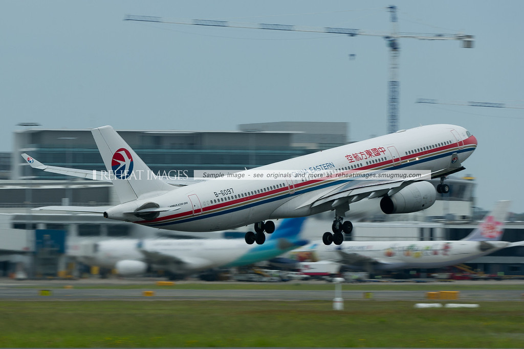 China Eastern Airbus A330 departs Sydney.
