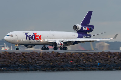 Fedex McDonnell Douglas MD-11F landed at Sydney airport.