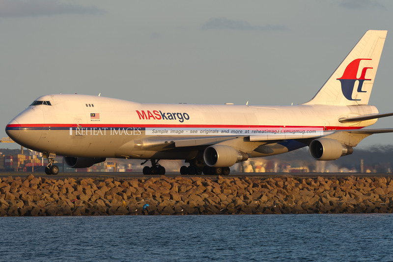 MASkargo Boeing 747-400F at Sydney airport.