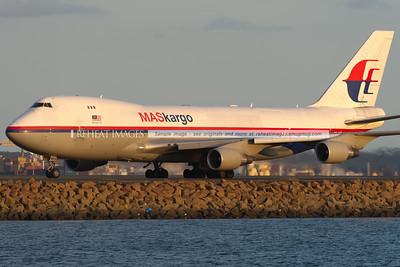 MASkargo Boeing 747-400F at Sydney airport.