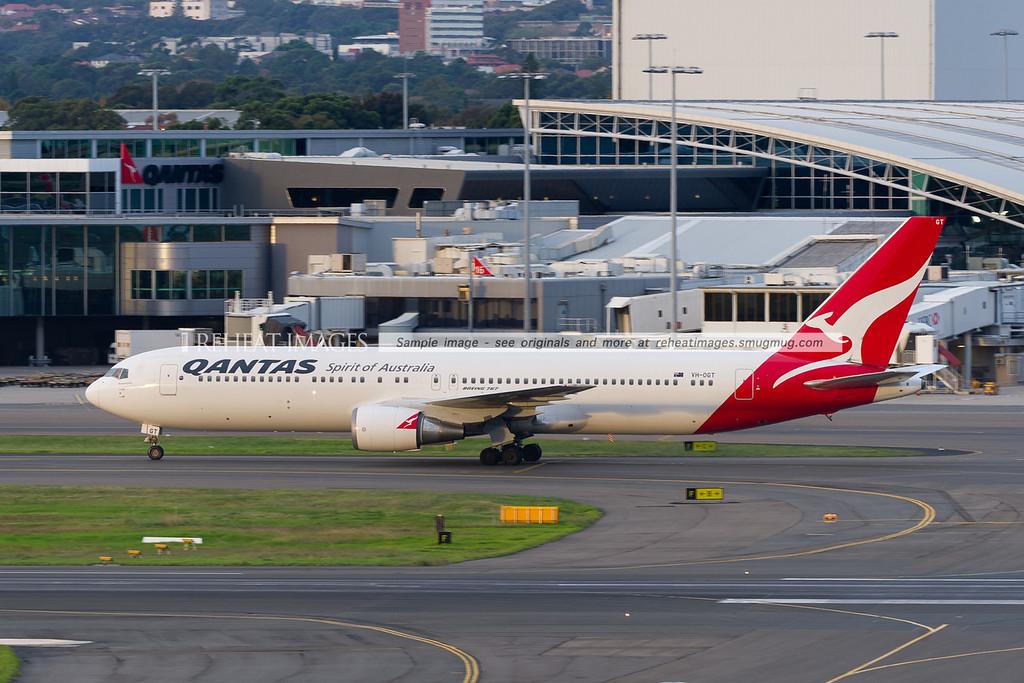 A Qantas Boeing 767-338/ER plane at Sydney airport.