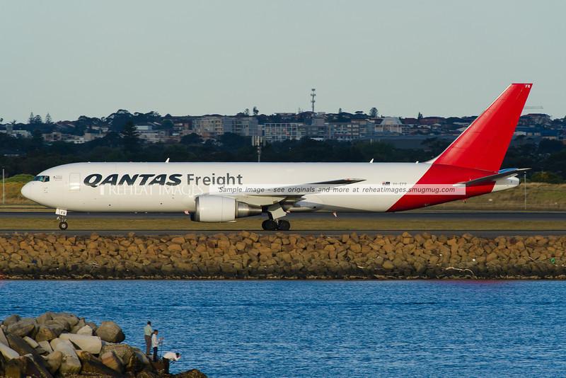 Qantas Freight B767-300F at Sydney Airport