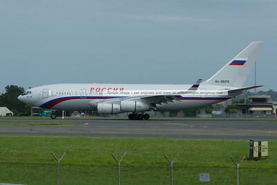 Россия Ил-96-300 (Rossiya IL-96-300) arrives in Sydney.