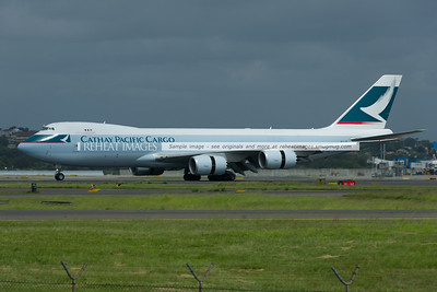 Cathay Pacific B747-867F B-LJF lands in Sydney airport