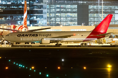 Qantas Freight B767-381/F is just about ready to taxi.