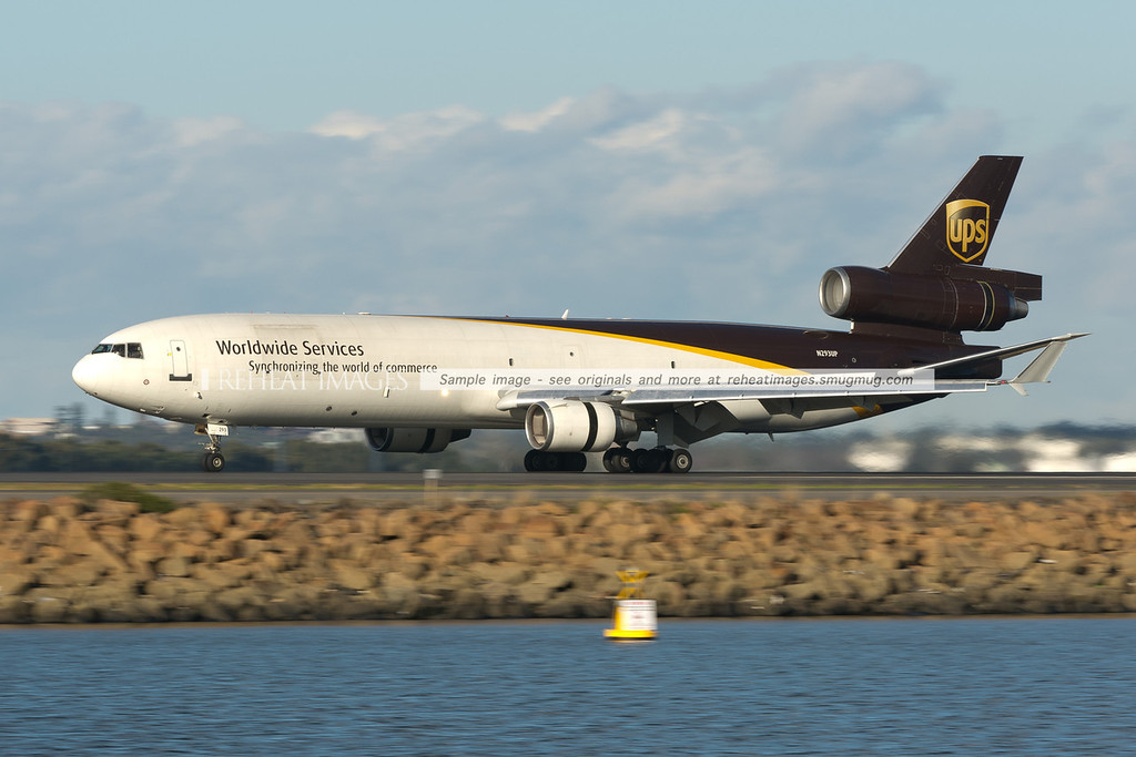 UPS MD-11F has landed at Sydney airport.