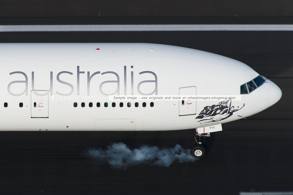 Virgin Australia VH-VPH Boeing 777 close up aerial view