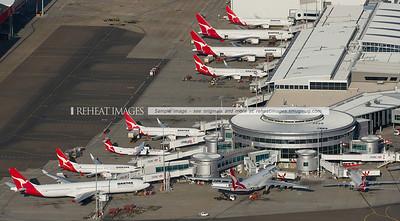 Qantas Terminal 3 at Sydney Airport