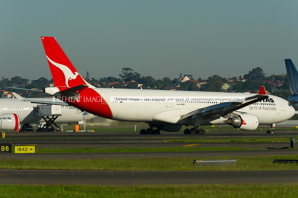 A Qantas Airbus A330-300 at Sydney airport.