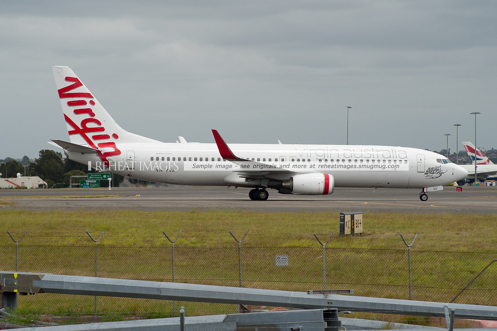Virgin Australia Boeing 737-800 at Sydney airport.