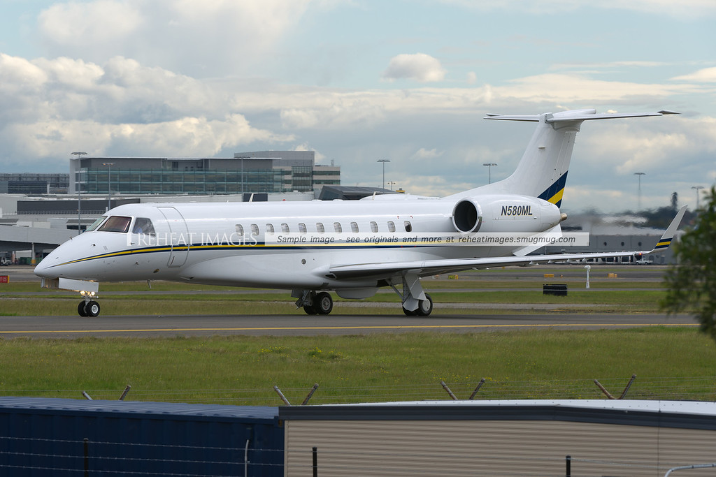 Embraer Legacy at Sydney airport.