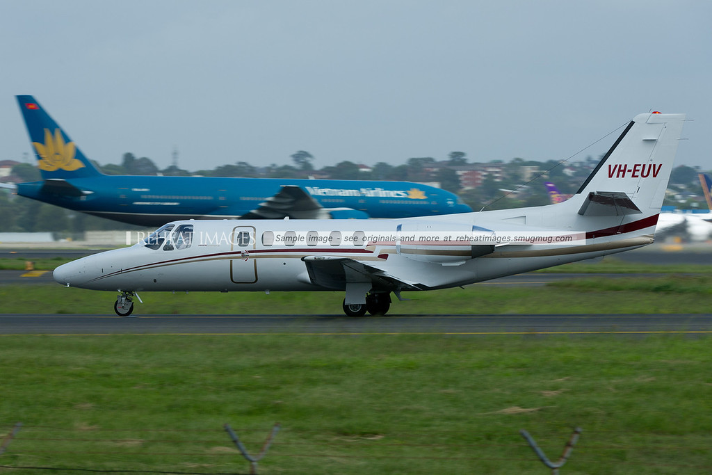 Cessna Citation II 550 at Sydney airport.