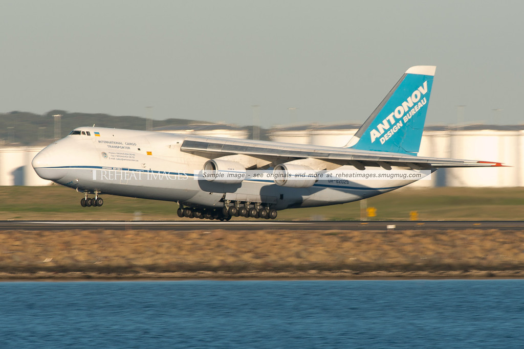 Antonov Design Bureau AN-124-100 UR-82029 in Sydney July 2013.