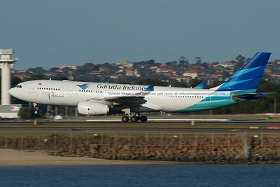 Garuda Airbus A330 Sydney takeoff