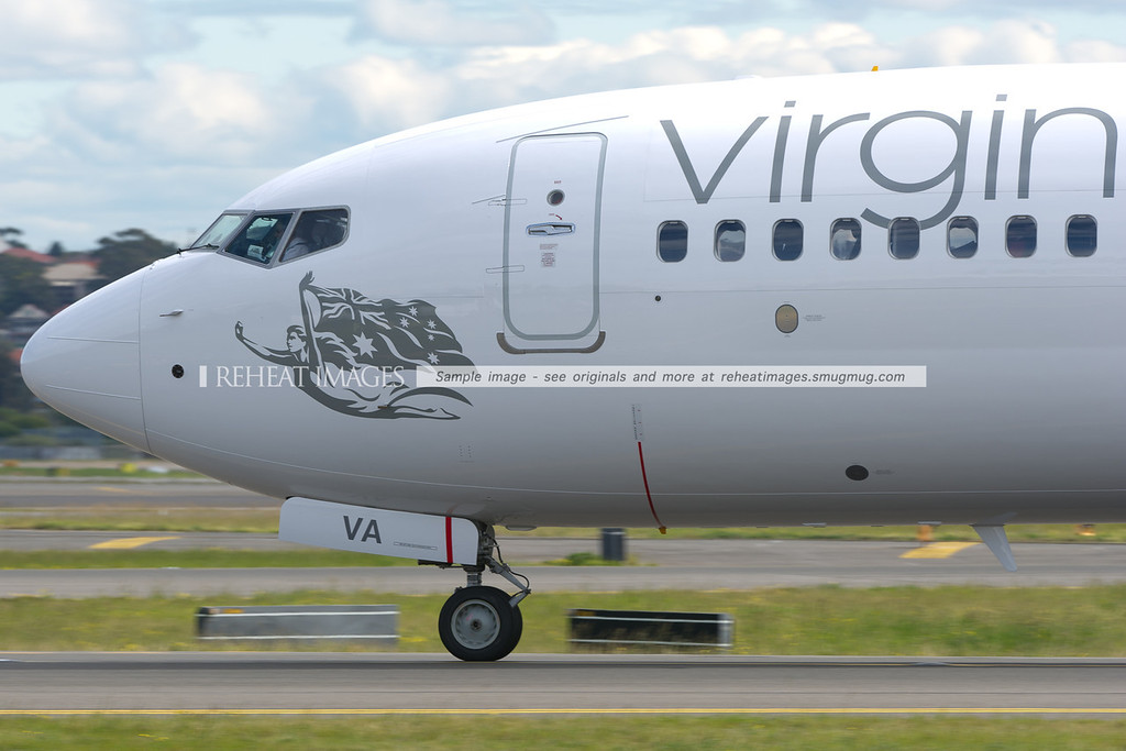 Virgin Australia Boeing 737 at Sydney airport.
