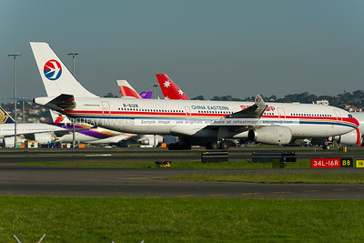 China Eastern Airbus A330-300 at Sydney airport.
