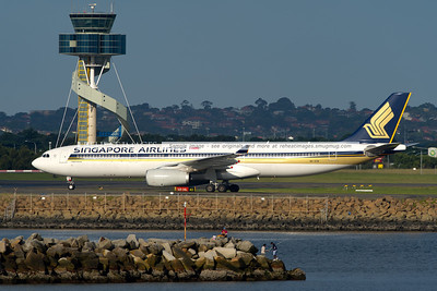 Singapore Airlines A330-300 Airbus in Sydney.
