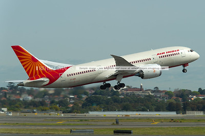 Air India's Boeing 787 Dreamliner taking off from Sydney airport.