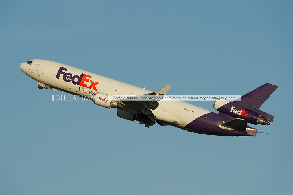 FedEx McDonnell-Douglas MD-11F departs Sydney airport.