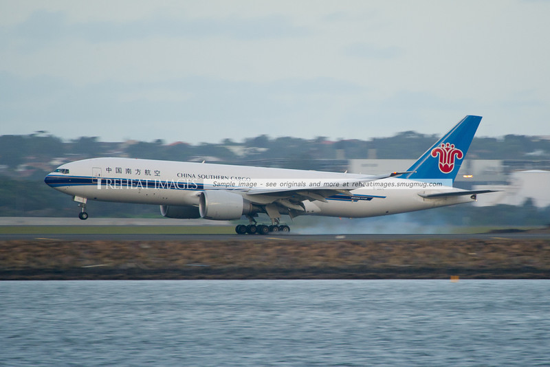 China Southern Cargo Boeing 777-F1B lands in Sydney,