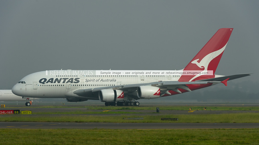 Qantas A380-841 VH-OQA, named Nancy-Bird Walton arrives back in Australia after being repaired in Singapore following its QF32 engine explosion. It's great to see it back, albeit covered in dirt and grime.