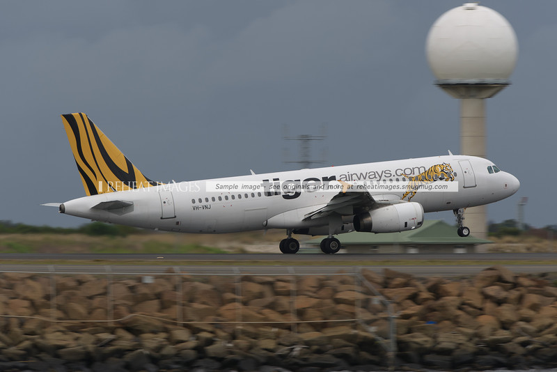 Tiger Airways Airbus A320 at Sydney airport