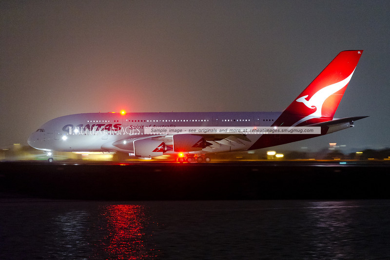 Qantas Airbus A380-842 VH-OQL arrives in Sydney as QF32 from London via Singapore. It was followed afterwards by QF32D, operated by sister plane VH-OQF which was hit by inflight turbulence on its way into Singapore.
