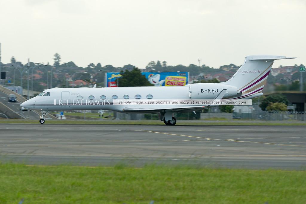 Hong Kong Jet Gulfstream G550 departs Sydney airport.
