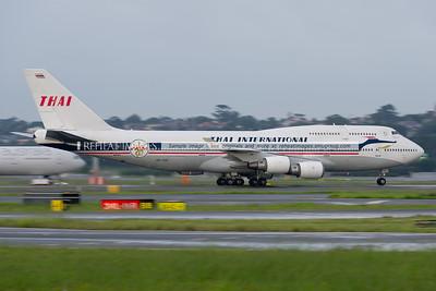 Thai Boeing 747-4D7 in retro Thai colours.