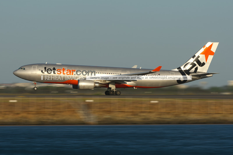 Jetstar Airbus A330 takes off from Sydney airport.