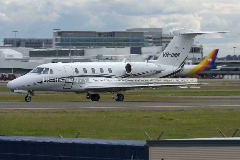 A Cessna Citation at Sydney airport.