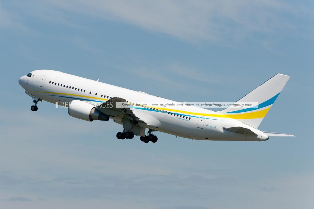 A Comlux Aruba Boeing 767-200/ER departs Sydney.