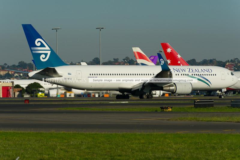 Air New Zealand B767-319/ER has arrived in Sydney.