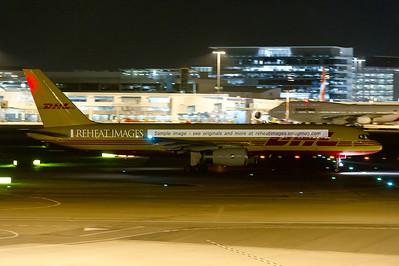 Tasman Cargo (DHL) Boeing 757 at Sydney airport.